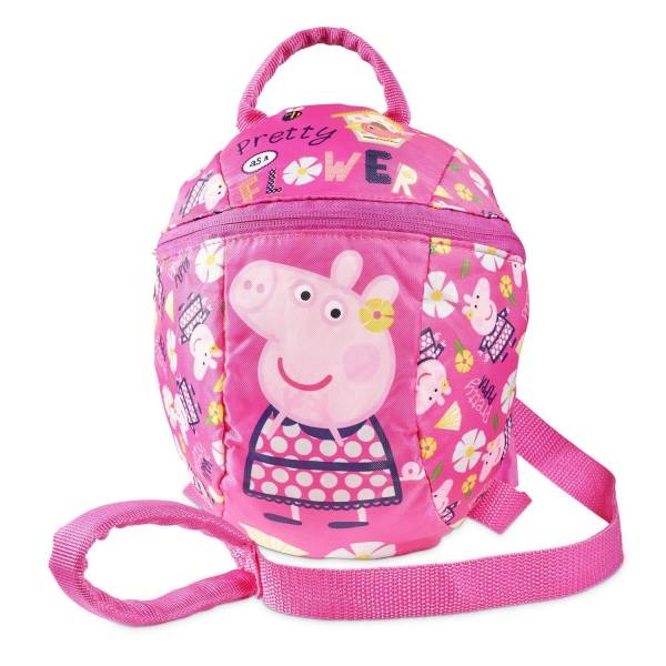 Peppa Pig with Reins School Bag Rucksack Backpack