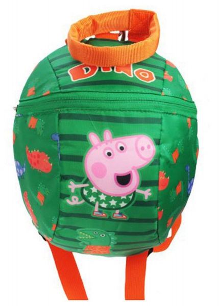 Peppa Pig George Dino Rude Reins School Bag Rucksack Backpack