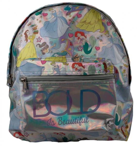 Disney Princess Bold Is Beautiful Silver Children/'s Backpack School Bag Kids