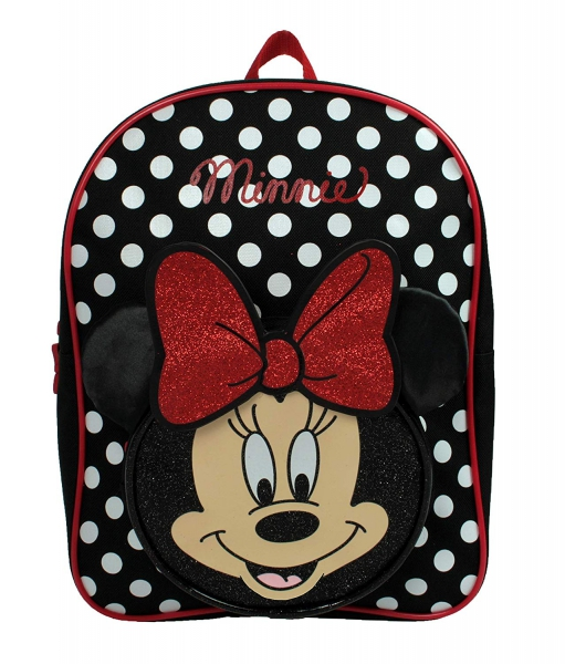 Minnie Mouse Girls Red 3d Bow and Ears School Bag Rucksack Backpack