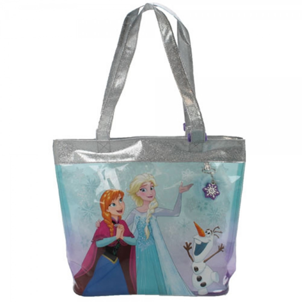 Disney Frozen Snowflake Anna & Elsa Tote Bag Shopping Shopper