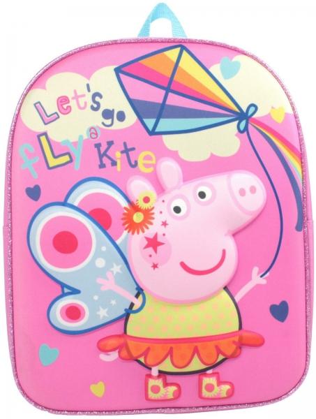 Peppa Pig Let'S Go Fly Kites' School Bag Rucksack Backpack