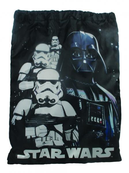 Star Wars Monochorome Skies Drawstring School Pe Gym Trainer Bag