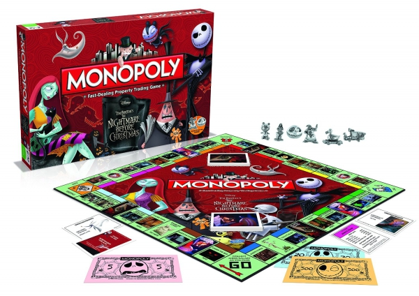 Disney Tim Burton'S ' The Nightmare Before Christmas' Monopoly Board Game