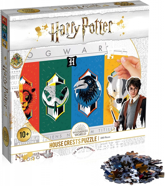 Harry Potter House Crests 500 Piece Jigsaw Puzzle Game