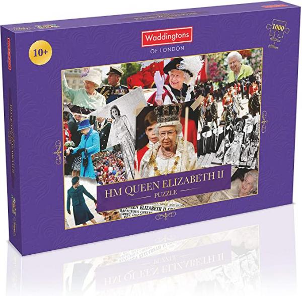 Hm Queen Elizabeth Ii Montage 1000 Piece Jigsaw Puzzle Game
