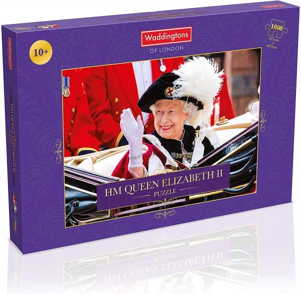 Hm Queen Elizabeth Ii Single Image 1000 Piece Jigsaw Puzzle Game