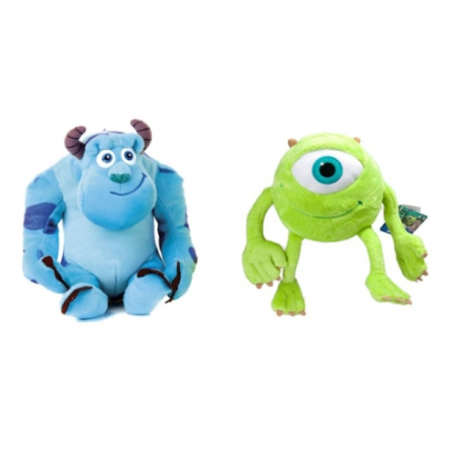 Disney Monster University Inc 'Sulley and Mike' 12 inch Set of 2 Plush Soft Toy