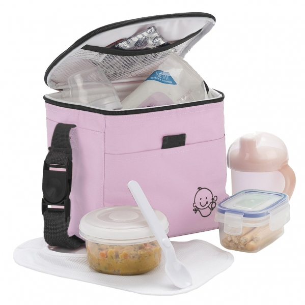 Polar Gear Baby Pink School Premium Lunch Bag Insulated