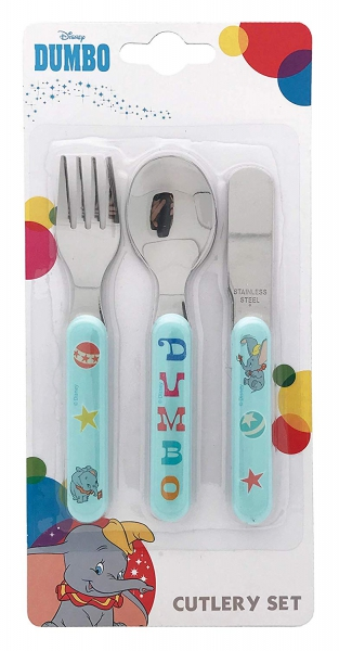 Disney Dumbo 3 Piece Metal Stainless Steel Cutlery
