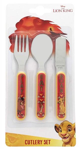 Disney Lion King 3 Piece Metal Stainless Steel Cutlery