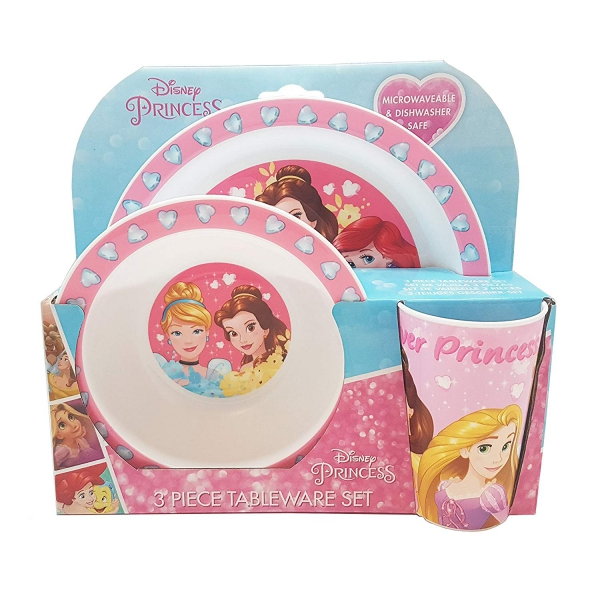 Princess Forever 3 Pcs Dinner Set