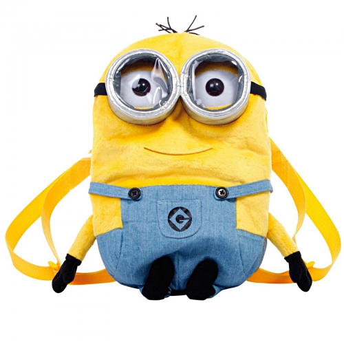Despicable Me 2 'The Minions' Shaped Plush School Bag Rucksack Backpack