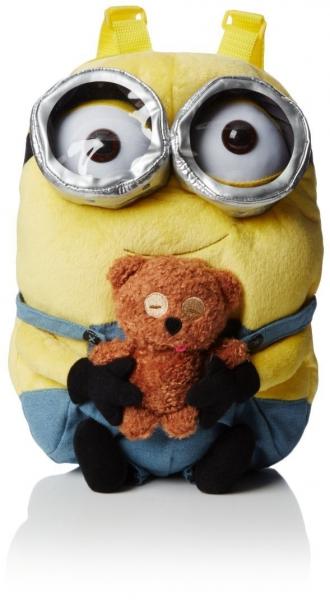 Minions 'Bob with Bear' Plush School Bag Rucksack Backpack