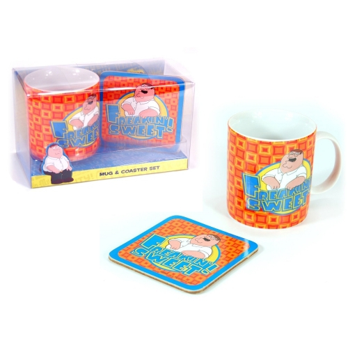 Family Guy 'Freakin Sweet' Mug with Coaster