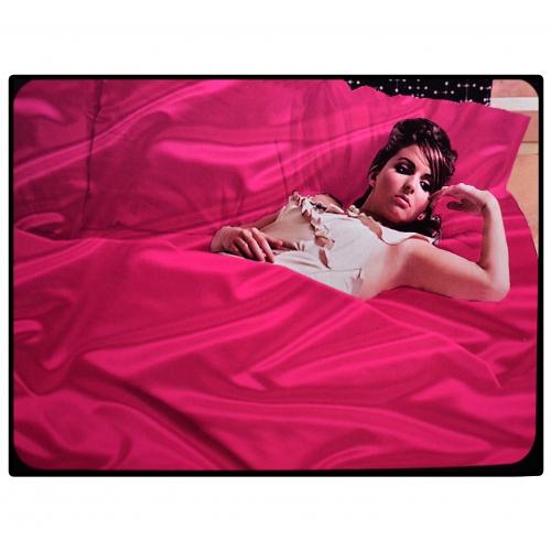Satin 6 Pieces Pink Gaveno Cavailia Complete Set Bedding King Duvet Cover