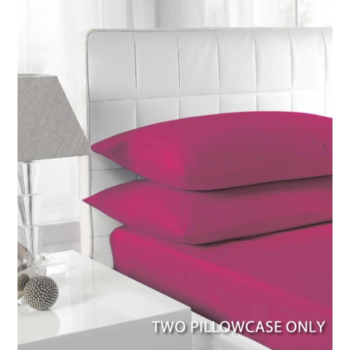 Percale Fuchsia 2 Pk Bedding Pillow Case Set