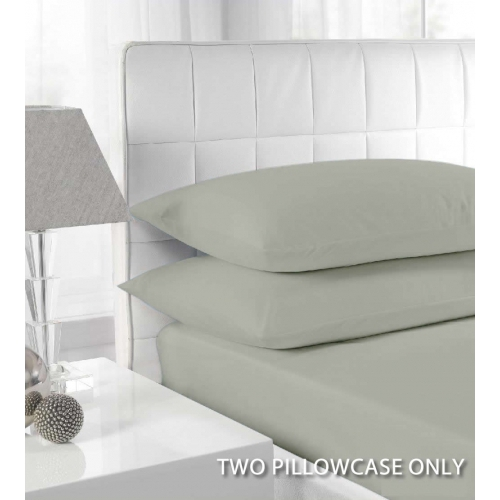 Percale Duck Egg 2 Pk Bedding Pillow Case Set