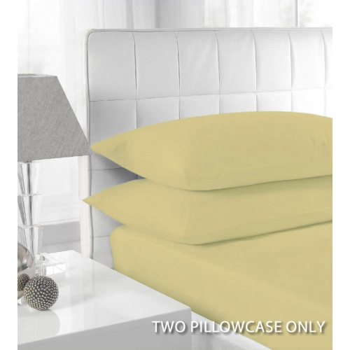 Percale Mocha 2 Pk Bedding Pillow Case Set
