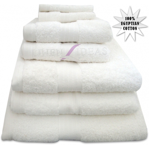 Towel Egyptian White Plain Jumbo Sheet