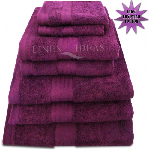 Towel Egyptian Jumbo Sheet Berry Plain