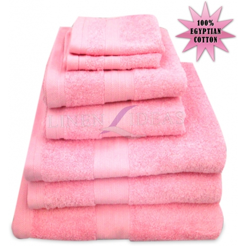 Towel Egyptian Jumbo Sheet Pink Plain