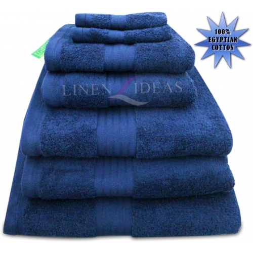 Towel Egyptian Jumbo Sheet Navy Plain