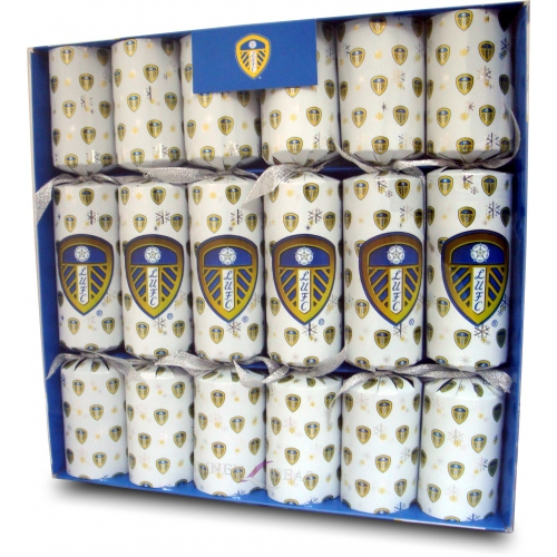 Leeds United Fc Football Luxury Crackers Official Christmas