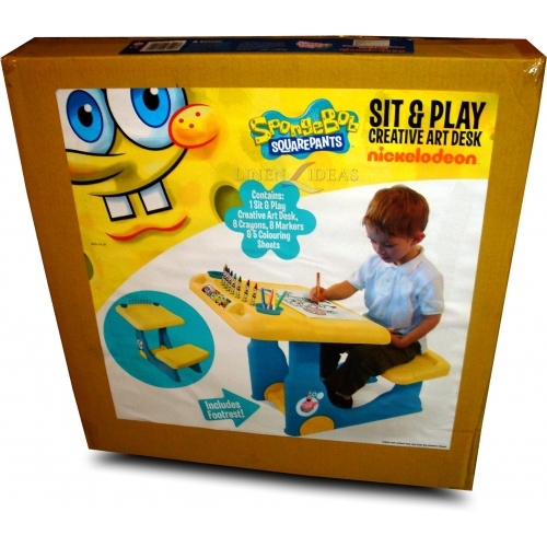 Spongebob Squarepants Sit and Play Colouring Table Stationery