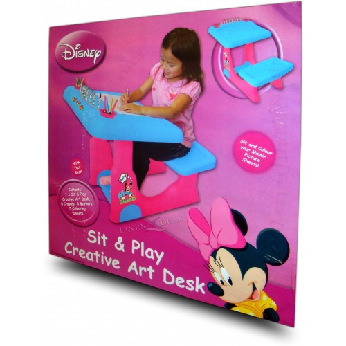 Disney Minnie Mouse Sit and Play Colouring Table Stationery