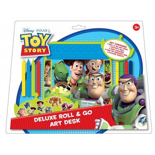 Disney Toy Story 'Deluxe' Roll & Go Art Desk Stationery