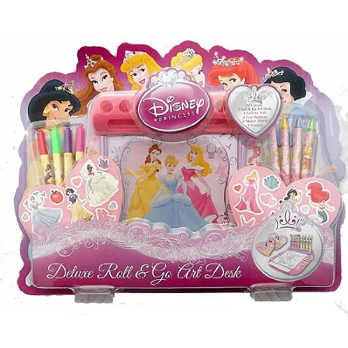 Disney Princess 'Deluxe' 12 Pc Roll & Go Art Desk Stationery