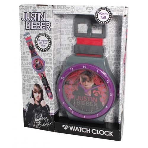 Justin Bieber Watch Clock Grey Wall