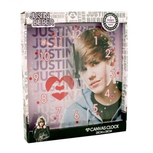 Justin Bieber Canvas Wall Clock