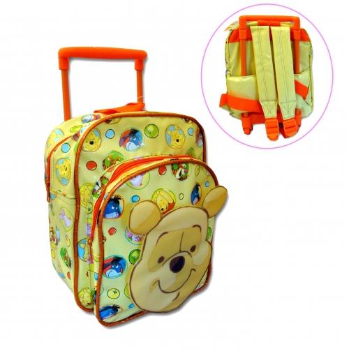 Disney Winnie The Pooh 'Winnie' Mini Pvc School Travel Trolley Roller Wheeled Bag