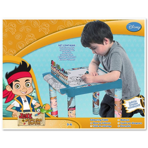 Disney Jake and The Never Land Pirates Colouring Table Stationery