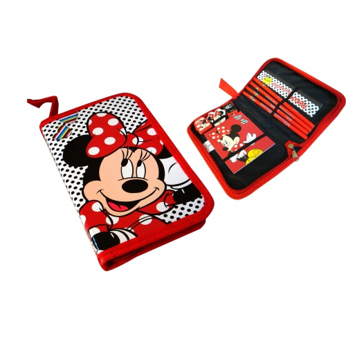 Minnie Mouse 'Stripe' Filled Canvas Stationery Case