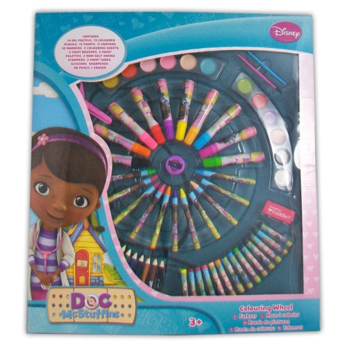 Disney Doc Mcstuffins Colouring Wheel Stationery