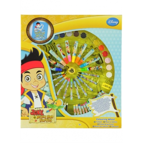 Disney Jake and Neverland Pirates Colouring Wheel Stationery