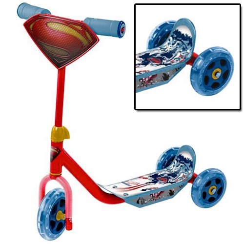 Superman 'Man of Steel 3 Wheel' Scooter Toy