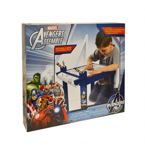 Marvel Avengers Assemble Colouring Table Stationery