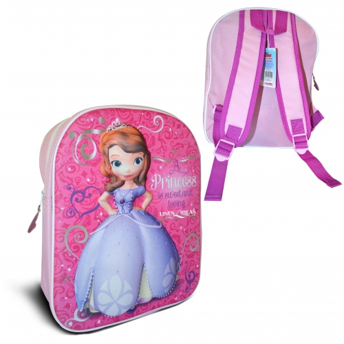 Disney Sofia The First '3d' Junior School Bag Rucksack Backpack