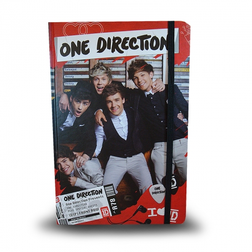 One Direction Hardback A5 Notebook Stationery