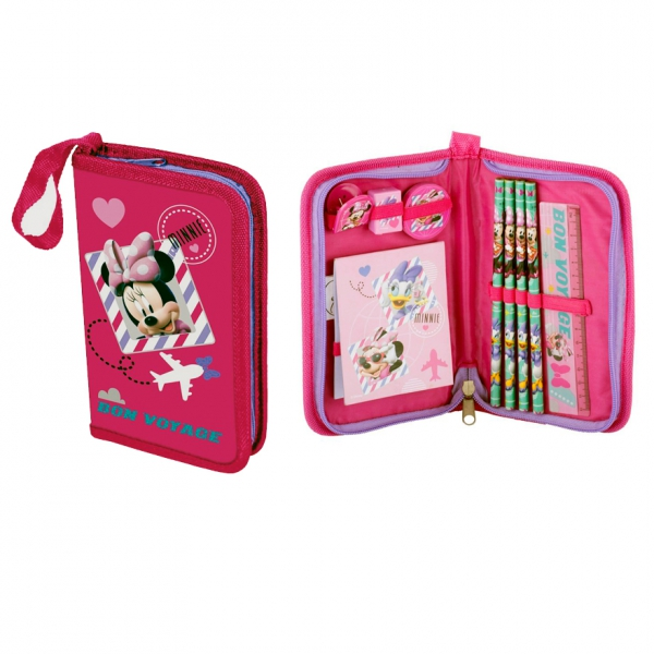 Disney Minnie Mouse 'Bon Voyage' Filled Pencil Case Stationery