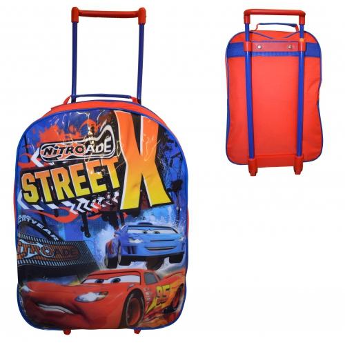 Disney Cars 'Nitroade' School Travel Trolley Roller Wheeled Bag