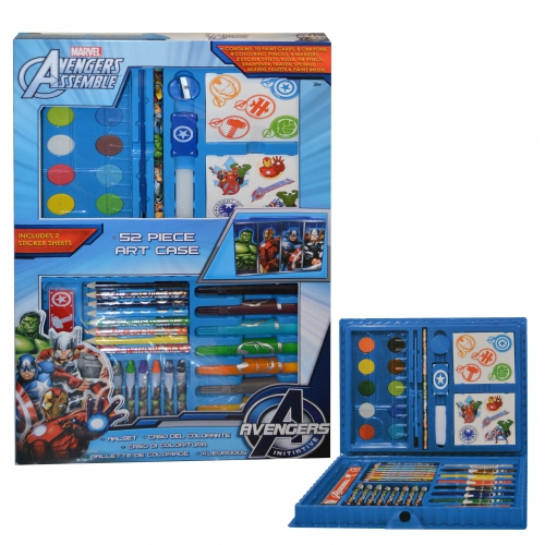 Marvel Avengers Assemble 52 Piece Art Case Stationery