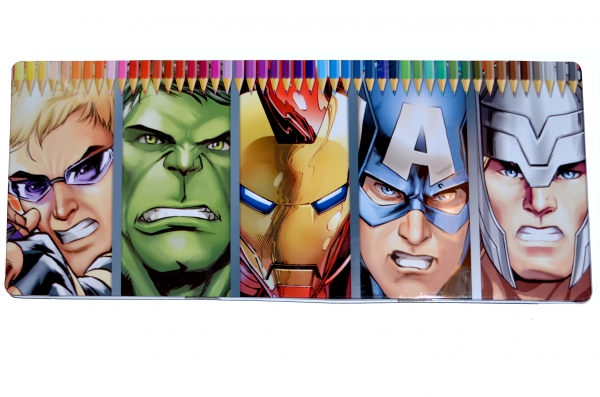 Marvel Avengers Assemble 50 Piece Colouring Pencils Tin Stationery