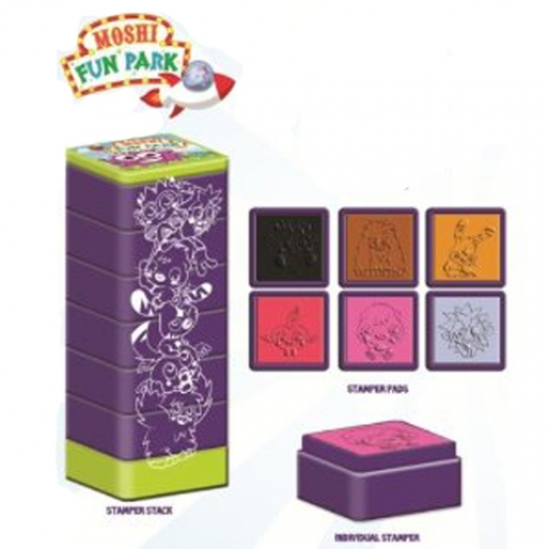 Moshi Monsters 'Fun Park' 6 Pk Stamper Set Stationery