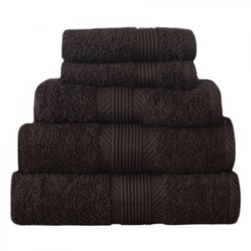 Towel Catherine Lansfield Home 450 Gsm Chocolate Plain Bath