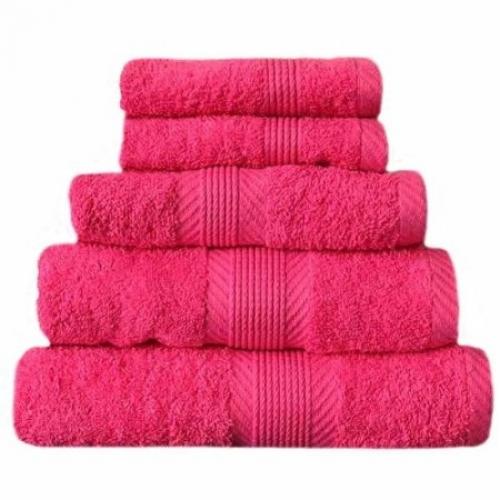Towel Catherine Lansfield Home 450gsm Hot Pink Plain Bath